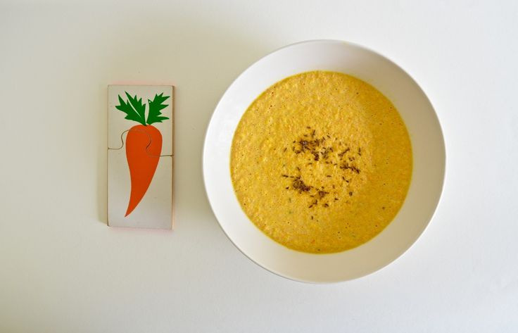 Cream of Carrot Soup with Caraway Salt