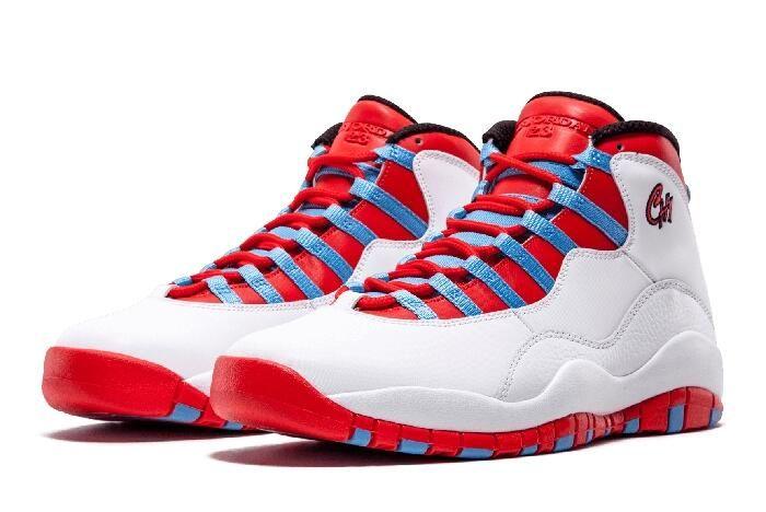 "2c3f59158299 Air Jordan 10 Retro ""CHI"" White University Blue-Black-Bright Crimson 310805- 114"