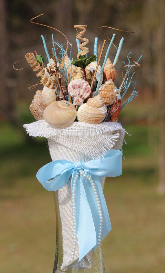 Items Similar To Sea Shell Handmade Beach Wedding Ocean Themed Bouquet On Etsy