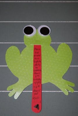 frog invitations