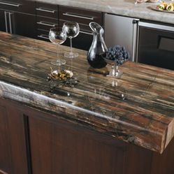 3474   Petrified Wood Laminate From Formica. Perfect Thickness Of Preformed  Countertop. The Gloss Looks Nice Too (recommended Over Matte And Etching).