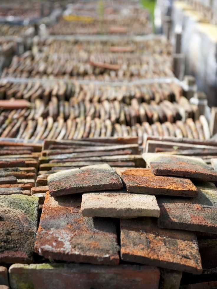 old french roof tile - Van Apers
