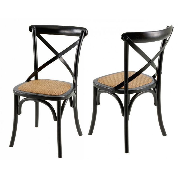 Chaise bistrot grisée Villa Florence - Lot de 2   Grenier Alpin