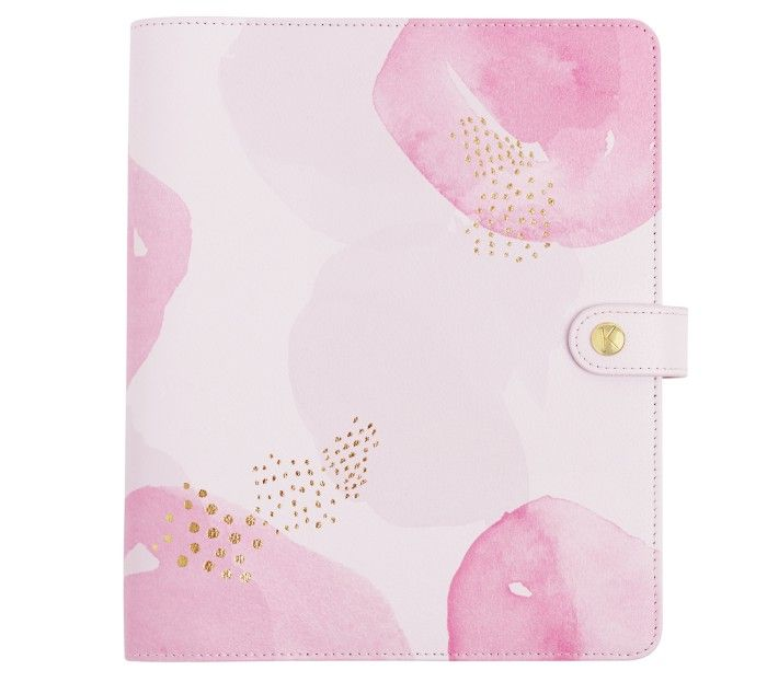 LEATHER PERSONAL PLANNER LARGE: PINK LAVENDER