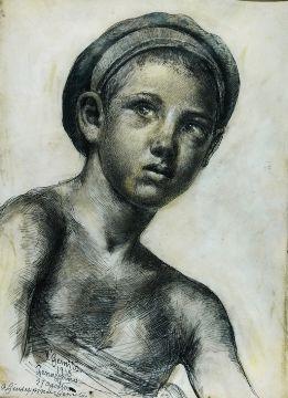 Fanciullo con berretto - 1915 - Vincenzo Gemito - Coll. privata
