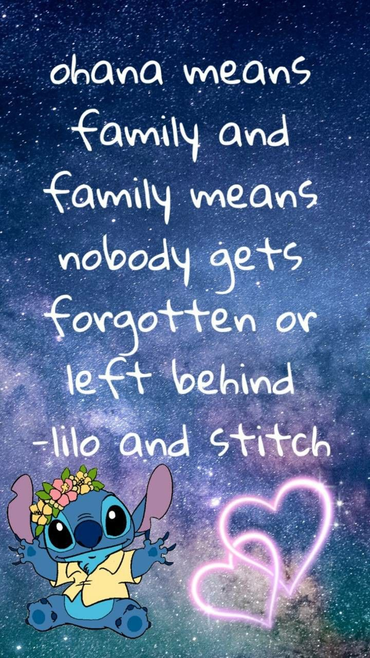 Pin By Amber Wood On Wallpaper Ohana Means Family Lilo And Stitch Disney Wallpaper