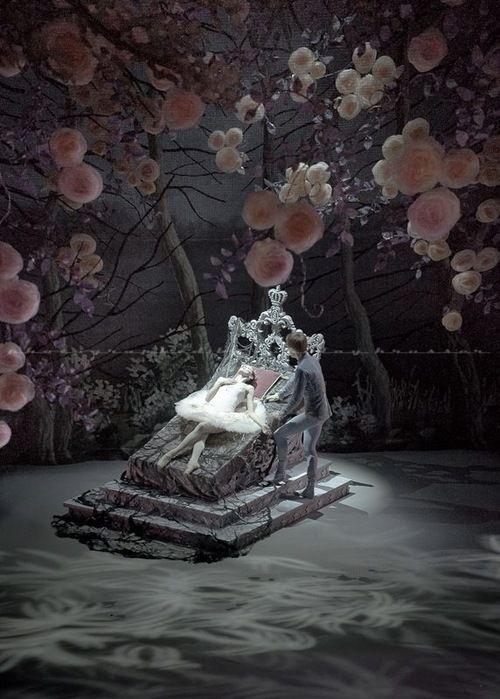 Lovely set! The Sleeping Beauty, Mikhailovsky Ballet. Photo by Nikolay Krusser.
