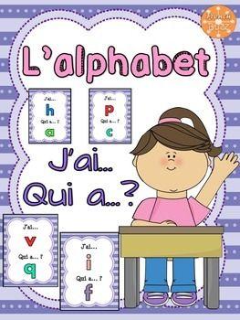 """L'alphabet - jeu amusant """"j'ai... qui a...?"""""""