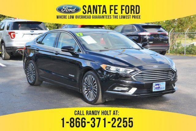 2017 Shadow Black Ford Fusion Hybrid Titanium Fwd 4 Door Sedan Automatic Cvt Gas Electric I 4 2 0 L 122 Engine Ford Fusion Used Ford Ford