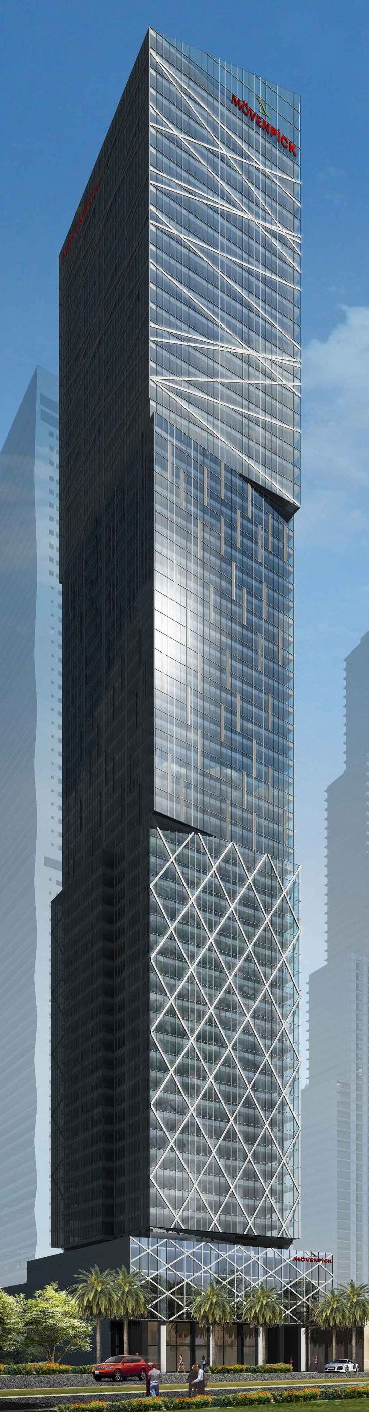Mövenpick Hotel  Residences, Makati, Manila Philippines by Rchitects :: 74 floors, height 244m