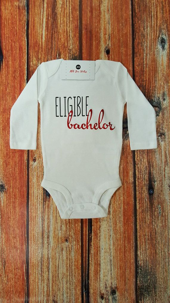 Check out this item in my Etsy shop https://www.etsy.com/listing/508761279/baby-boy-clothes-eligible-bachelor