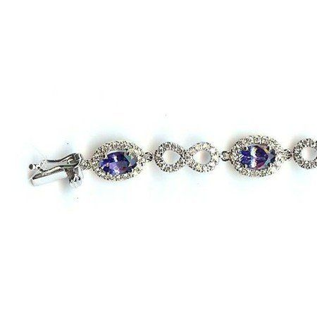 """14K White Gold Tanzanite and Diamond Bracelet Gems-is-Me. $6228.24. FREE PRIORITY SHIPPING. This item can be special ordered with different gemstones and/or different color gold. Please email me for a quote.. This item will be gift wrapped in a beautiful gift bag. In addition, a """"gift message"""" can be added."""