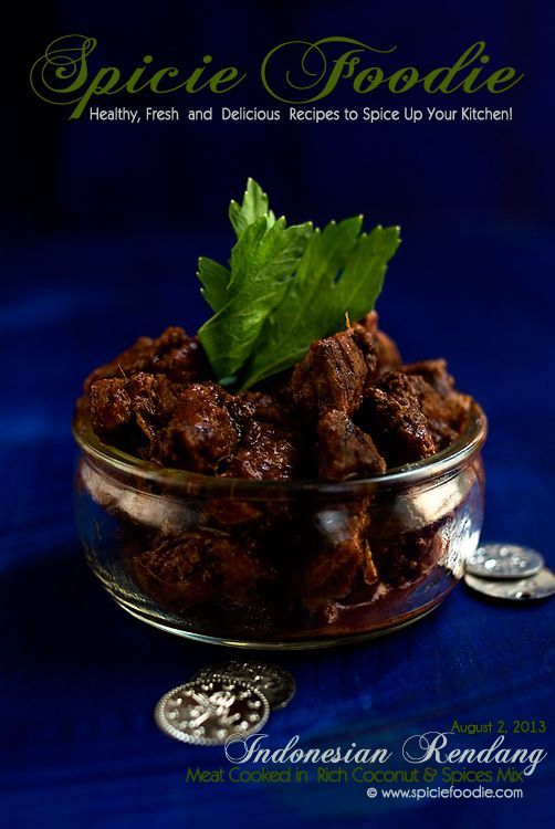 Indonesian Beef Rendang by @SpicieFoodie