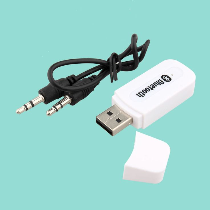 White Color USB ⑥ Wireless Bluetooth 3.5mm Music Audio Car ₪ Handsfree Receiver Adapter for phone for androidWhite Color USB Wireless Bluetooth 3.5mm Music Audio Car Handsfree Receiver Adapter for phone for android
