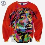 Mr.1991INC Hip hop 3d sweatshirt for men autumn pullovers print rapper Tupac 2pac hoodies long sleeve tops red color