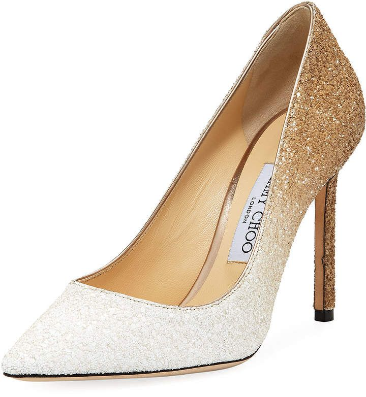 special section cheap prices biggest discount Jimmy Choo Romy 100mm Ombre Glitter Pumps | Products in 2019 ...