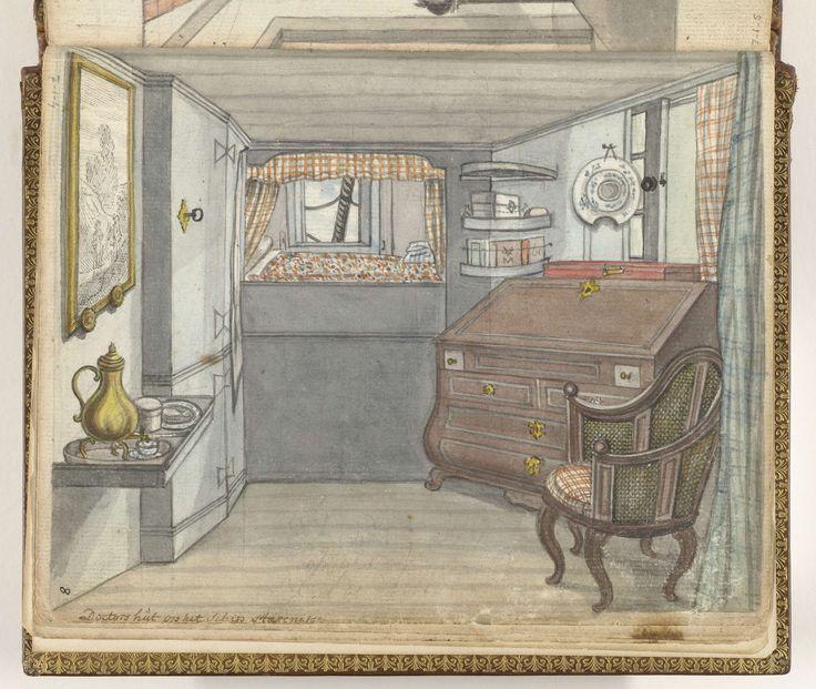 Hut van de chirurgijn op het VOC-schip de Stavenisse, Jan Brandes, , 1785 - 1786