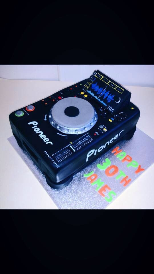 Pioneer DJ decks cake I love how realistic this came out
