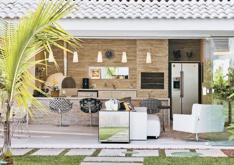 Espaços gourmet: uma seleção de cozinhas ao ar livre - Casa
