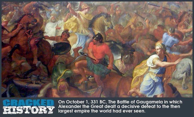 The Deathblow of Antiquity's Largest Empire (Battle of Gaugamela Arbela) - http://www.crackedhistory.com/the-battle-of-gaugamela-october-1-331bc/ -  #top10