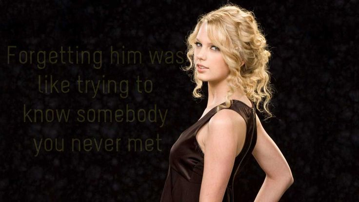 Red Taylor Swift- Sounds like a song written about my late husband! I love it :)
