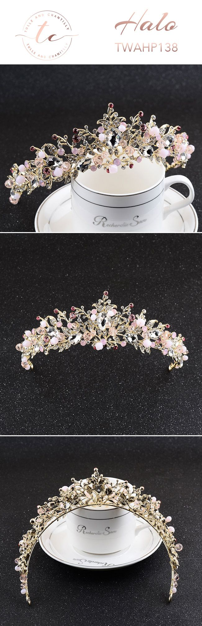 rhinestone hair   accessories sparkly    bridal hairpiece    rose gold bridal   hair accessories