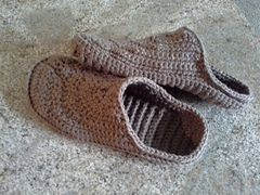 """Finally! A simple crochet pattern for a Unisex No-Frills """"Croc Sock"""" liner! Fits inside the store-bought """"Crocs"""" perfectly, turning them into cozy house-shoes! Instant pattern download at Ravelry."""