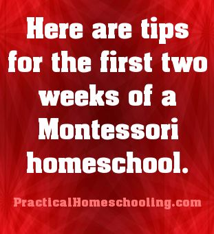The First Two Weeks of Montessori Homeschool - How to get started? Here are tips for the first two weeks of a Montessori homeschool.