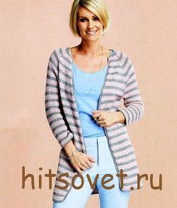 Полосатый кардиган спицами http://hitsovet.ru/polosatyj-kardigan-spicami/