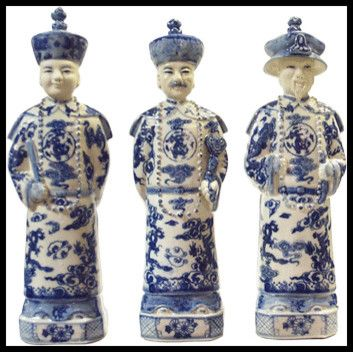 blue and white asian decor | Blue and White Qing Emperors asian-fireplace-mantels