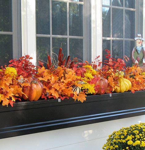 #Fall Window Box Ideas: Make Your Window Boxes Beautiful in Autumn #gardentips