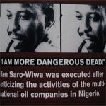 Ken Saro-Wiwa - Ha inizio a New York il processo che vede il consorzio petrolifero Royal Dutch Shell accusato di presunta complicità nell'uccisione di Ken Saro-Wiwa, intellettuale, scrittore, attivista nigeriano, condannato e giustiziato quattordici anni fa.