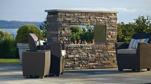 Outdoor Gas Fireplace Plateau PTO 30 - Regency Fireplace Products |  Fireplaces | Pinterest | Stone fireplaces, Outdoor and Fireplaces - Outdoor Gas Fireplace Plateau PTO 30 - Regency Fireplace Products