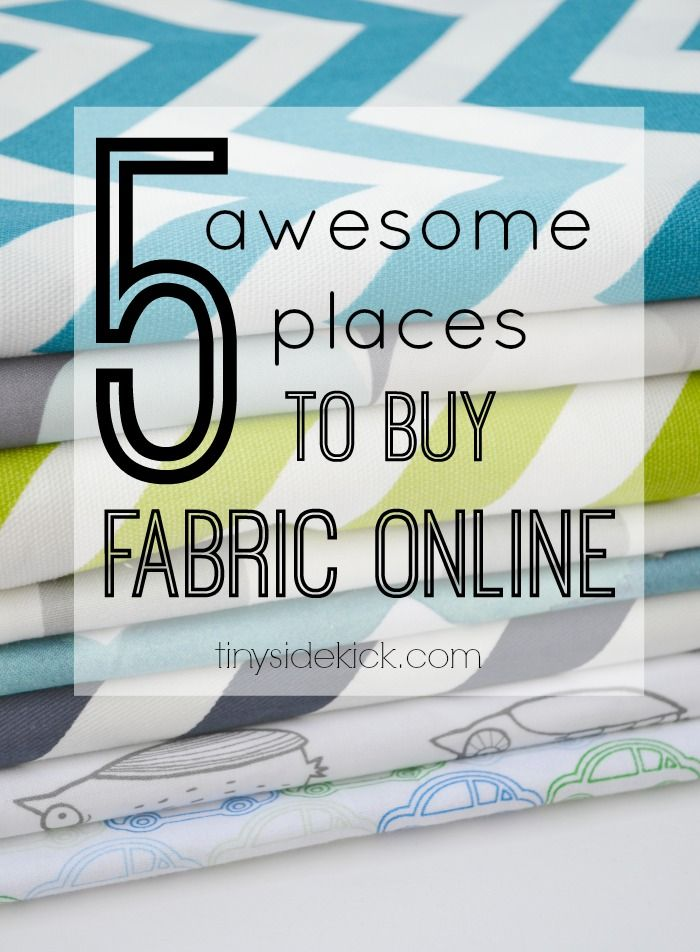 5 Awesome Places to Buy Fabric Online - online shopping? Yes! Easy access to fabric means more time to sew!