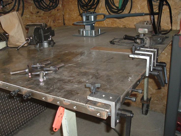 welding table and clamping ideas