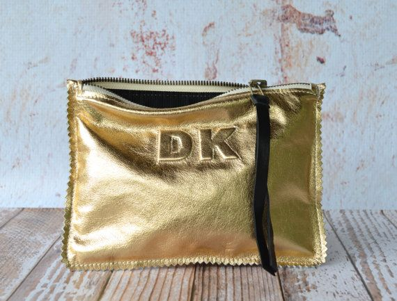 Hey, I found this really awesome Etsy listing at https://www.etsy.com/listing/160721431/small-metallic-gold-leather-clutch