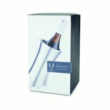 Viski Harrison Convex Bottle Chiller, Gray