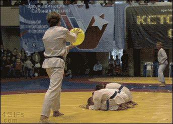 Black belt right on target