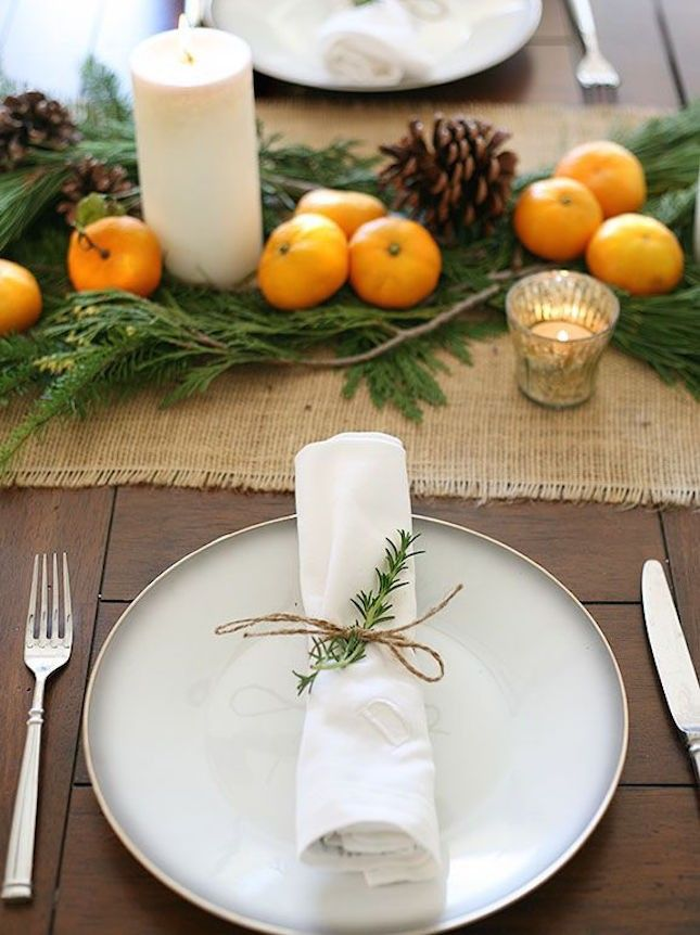 Love this rustic holiday tablescape.