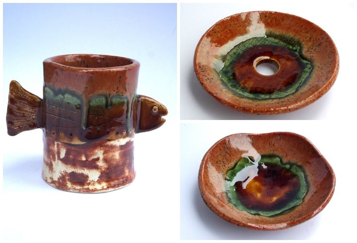 ceramic set soap dish, bowl, cup www.ceramika-opole.pl