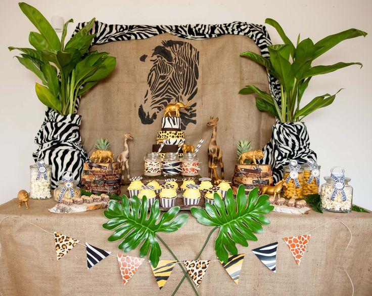 Wilde Candy-Bar! Animal Prints, grandiose Torte! Safari-Party. decorize.de