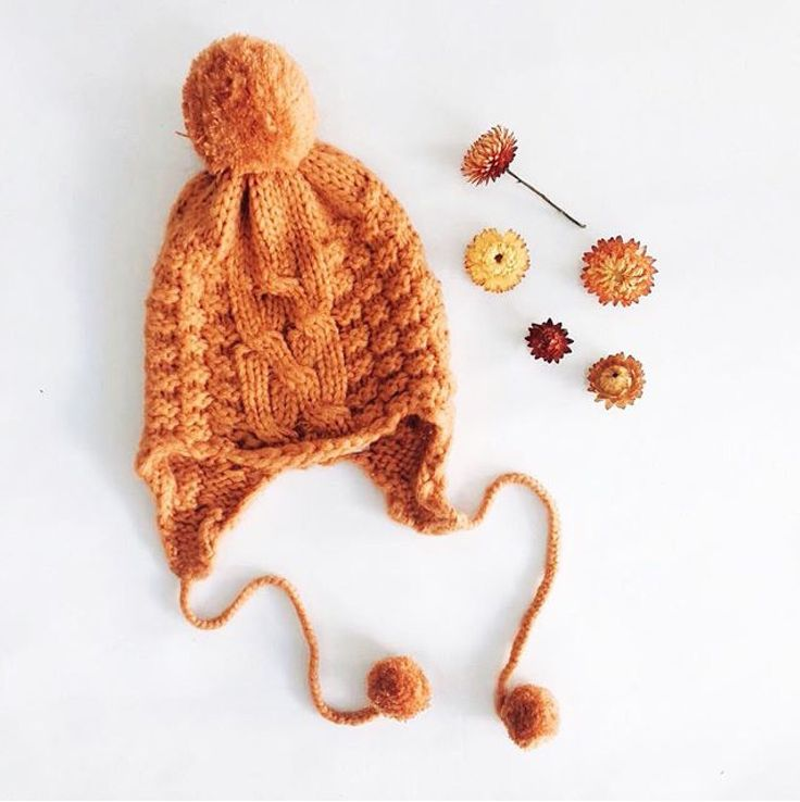 Bella and Lace - Vintage Orange Knitted Beanie
