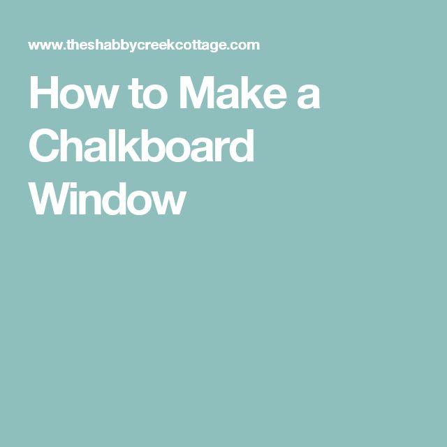 how to make chalkboard fabric