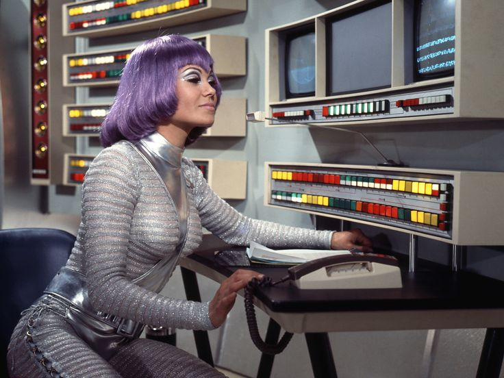"Female Moonbase personnel wore the infamous ""Purple Wig"" in Gerry Anderson's UFO"