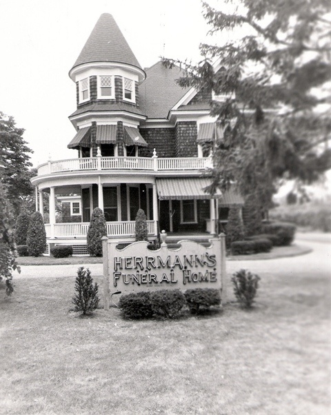 Herrmann's Funeral Home by Phil Trypuc's Old Photos of Center Moriches, via Flickr