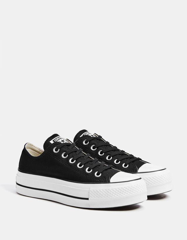 dbda1164bd CONVERSE CHUCK TAYLOR ALL STAR platform sneakers - Bershka  fashion   product  converse  allstar  sneakers  trainers  black  canvas  zapatillas   lona  negras ...