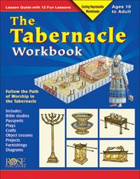 The Tabernacle Workbook provides 12 fun lessons packed with 100s of fascinating facts about...  •The Tabernacle  •Feasts of the Bible  •High Priest practices   This easy-to-understand Bible resource supplies reproducible worksheets, interactive activities, and visually appealing diagrams that help make the subject of the Tabernacle come alive.