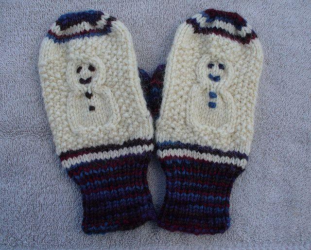 free pattern, child mittens