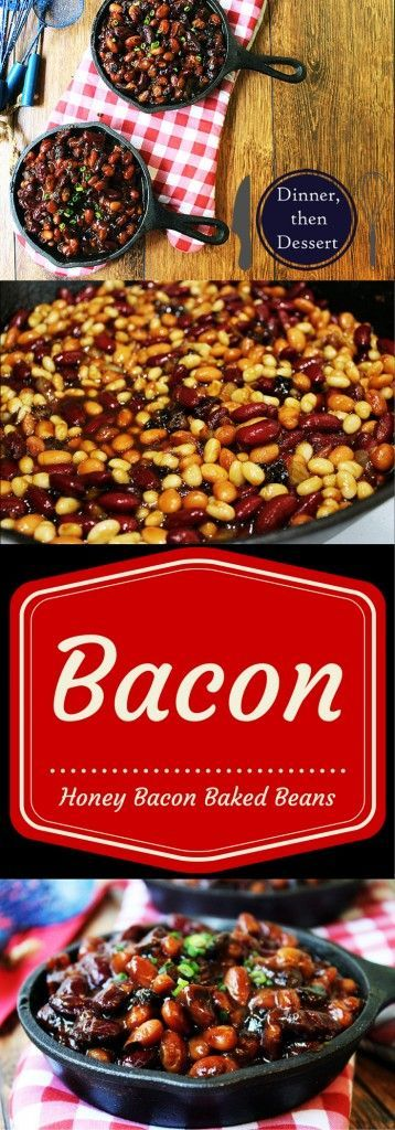 These baked beans are sticky, salty [from the delicious bacon!] and sweet and a perfect addition to your BBQ or picnic.