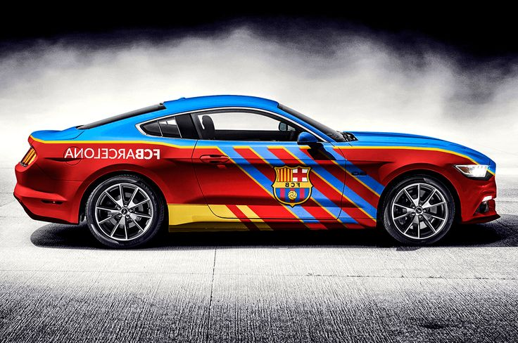 Ford Mustang FC BARCELONA – Wrap design